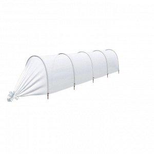 Парник прошитый, длина 4.5 м, 5 дуг из пластика, дуга L = 2 м, d = 20 мм, спанбонд 45 г/м?, Reifenh?user, «Агроном»
