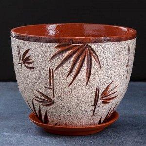 Горшок цветочный бамбук 3,5 л