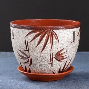Горшок цветочный бамбук 2,3 л