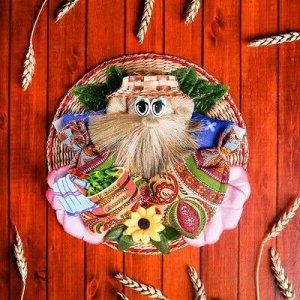 Оберег - панно «Домовой банщик», 17,5 см, микс