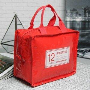 Сумка-термо Ланч, 22*11*18, отдел на молнии, красный