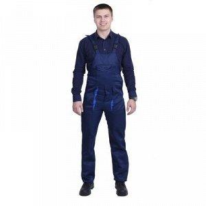 Полукомбинезон, размер 52-54, рост 182-188 см, цвет синий/васильковый