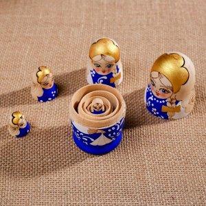 """Матрешка """"Жженка"""", синяя, 5 кукольная"""