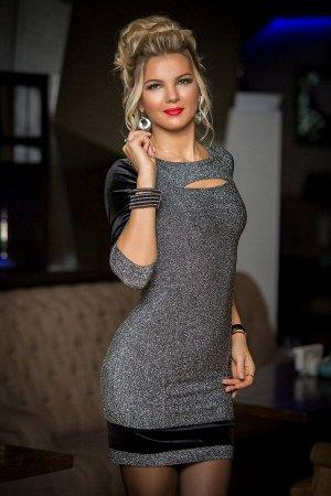 Миди платье со шнуровкой 7802