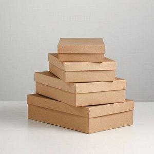 """Набор коробок 4 в 1 """"Крафт однотонный"""", 30 x 20 x 8 - 24 x 14 x 5 см"""