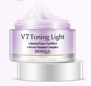 Крем увлажняющий BIOAQUA V 7 для лица с тонирующим эффектом (Фиолетовый)