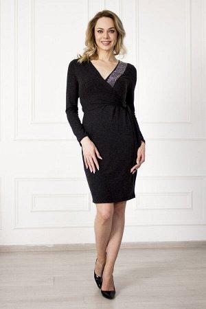 Платье 826 кристалл черное