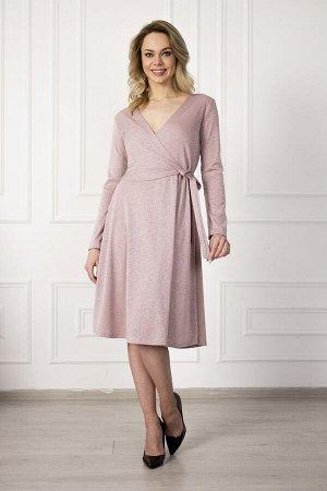 Платье 753 элегант розовый люрекс