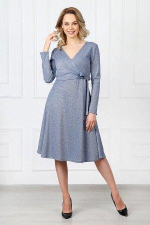 Платье 752 элегант голубой люрекс