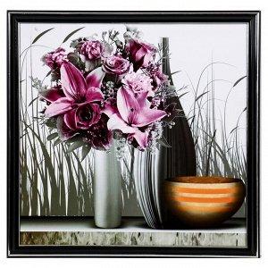 "Картина ""Вазы с лилиями"" 36х36 см"