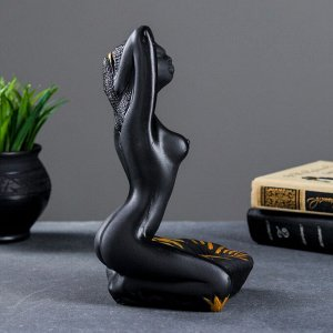 """Подставка для мелочей """"Египтянка"""" черная. 14х14х24см"""
