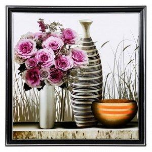 "Картина ""Вазы с розами"" 36х36 см"