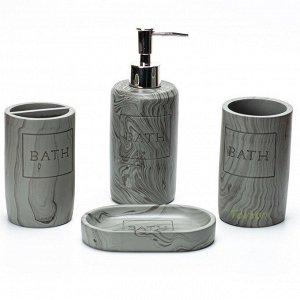 Набор аксессуаров для ванной комнаты из искусственного камня (полистоун) АВ-2012