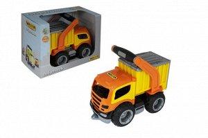 """""""ГрипТрак"""", автомобиль-контейнеровоз  (в коробке) 37435 (1/6)"""