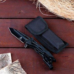 Нож перочинный складной черный, лезвие 8,5 см, с фиксатором