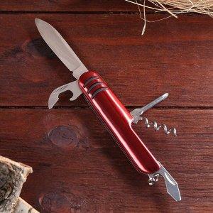 Нож швейцарский Мастер К 5в1, красный