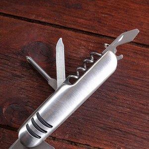 Нож швейцарский Мастер К 7в1, рукоять, хром