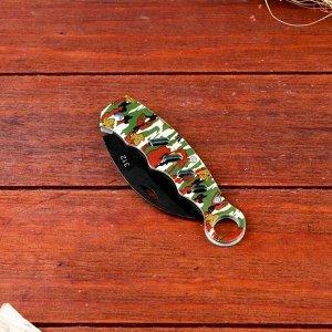 Нож-керамбит Мастер К, камуфляж, лезвие 7 см
