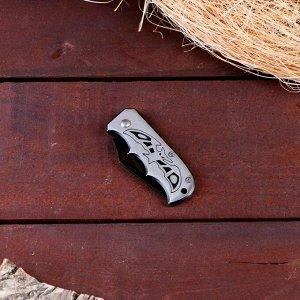 Нож перочинный лезвие 5,1см с вырезом, рукоять Летучая мышь 12см