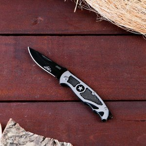 Нож перочинный Мастер К лезвие черное 6,3см, рукоять Звезда, 15,5см