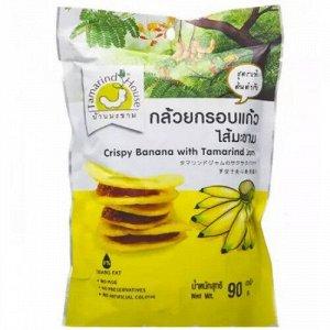 Банановые снеки с джемом из тамаринда (CRISPY BANANA WITH TAMARIND), 45 гр.