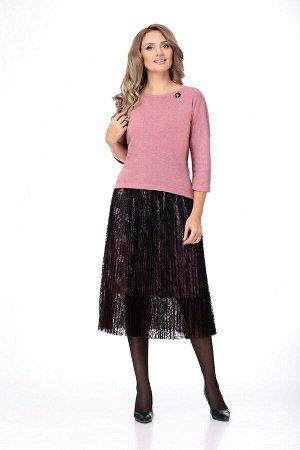 Женский комплект-двойка блуза и юбка
