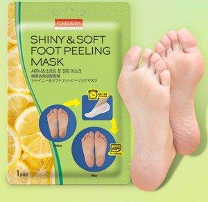 Пилинг для ног Shiny&Soft Foot Peeling Mask (PUREDERM)