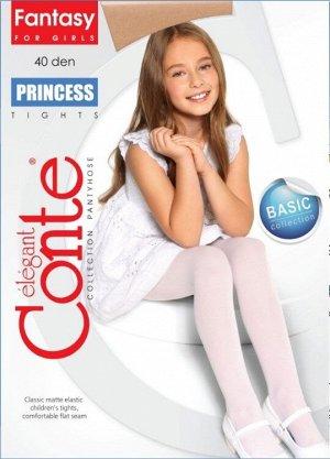 Princess 40 Колготки детские (Conte)/6/ матовые эластичные из микрофибры и LYCRA, плоский шов
