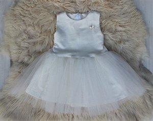 Платье «Брошь» МОЛОКО