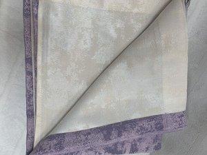 Молоко+лиловый шторы по 2 метра длина 270 см