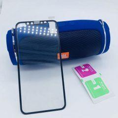 Защитное стекло 3D Iphone X/XS/11 PRO (черное) в техпаке с силиконовыми краями на весь экран