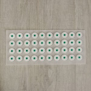 Аппликатор - коврик, 14 ? 32 см, 40 модулей, цвет белый/зелёный