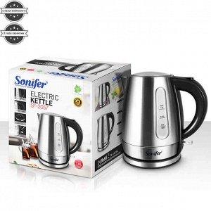 Чайник Электрический чайник Sonifer SF-2057 Напряжение : 220-240 В Мощность : 1850-2200 Вт Частота : 50/60 Гц Емкость: 1 л Скрытый нагревательный элемент из нержавеющей стали Вращение на 360 градусов