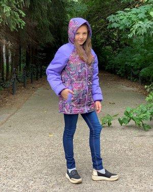 Куртка для девочек демисезонная (Ткань верха плащевая DEWSPO PU MILKY, утеплитель синтепон 200г/кв.м, подкладка Taffeta 190. в р
