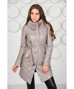 Красивое пальто из искусственной кожиАртикул: RL-669-B