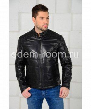 Мужская кожаная куртка на межсезоньеАртикул: C-52355-CH