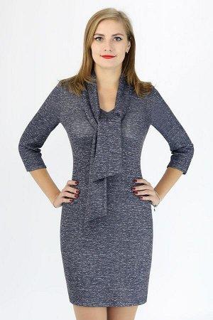 Платье Трикотаж, шарф съемный, длина от талии 55 см, без молнии.