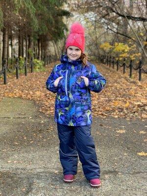 Куртка зимняя для девочек (Ткань верха Мембранная,утеплитель Сиберия 300 , подкладка флис/тафета,застежка-молния, по л/талии кул
