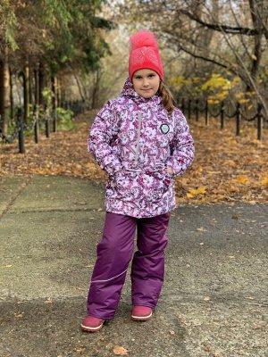 Куртка зимняя для девочек (Ткань верха Таслан ,утеплитель Сиберия 300 , подкладка флис/тафета,застежка-молния, по л/талии кулиск