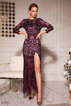 Платье с пайеточной россыпью