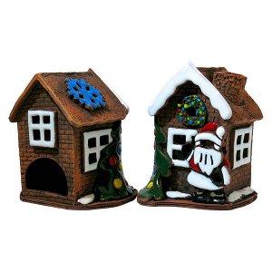 Аромалампа Домик Дед Мороз, керамика, 200 мм