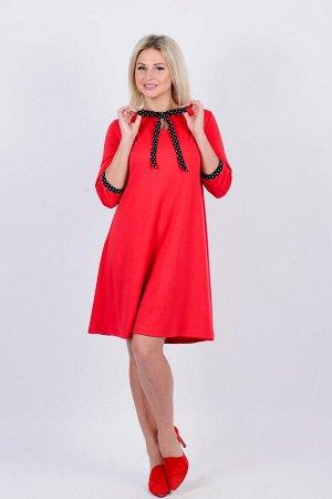 Платье П 646 (красный)