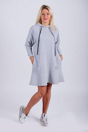 Платье П 610 (серый)