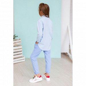 Голубые брюки с карманами АДБР1-1
