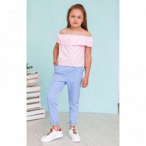 Розовая блузка с воланом АДБ1-1