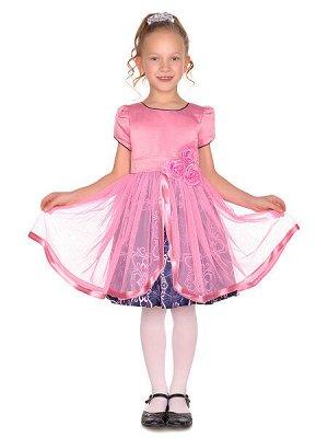 Платье - розовый, синий цвет