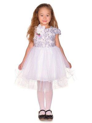 Платье - белый, серебро цвет