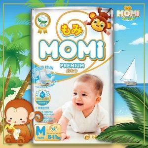 MOMI Premium  подгузники M( 6-11 кг), 60 шт.