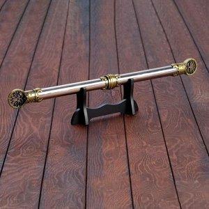 Сувенирный кинжал 2в1, на подставке, рукоять под голографию, наконечник с лотосом, 59 см