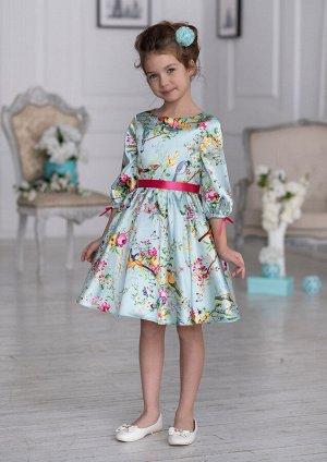 Кассандра нарядное платье бирюзовый
